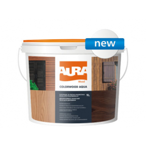 Состав декоративно-защитный для древесины Aura ColorWood Aqua каштан - интернет-магазин tricolor.com.ua