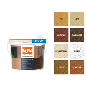 Состав декоративно-защитный для древесины Aura ColorWood Aqua кипарис - изображение 2 - интернет-магазин tricolor.com.ua