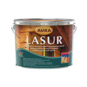 Состав декоративно-защитный для дерева Aura Lasur тик