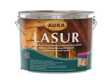 Состав декоративно-защитный для дерева Aura Lasur орех