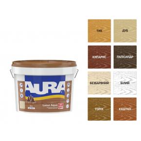 Лазурь для дерева Aura Lasur Aqua бесцветный - изображение 2 - интернет-магазин tricolor.com.ua
