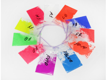 Образцы флуоресцентных (неоновых) пигментов Tricolor