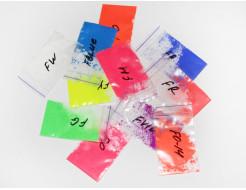 Образцы флуоресцентных пигментов (1грамм*10шт) Tricolor - изображение 2 - интернет-магазин tricolor.com.ua