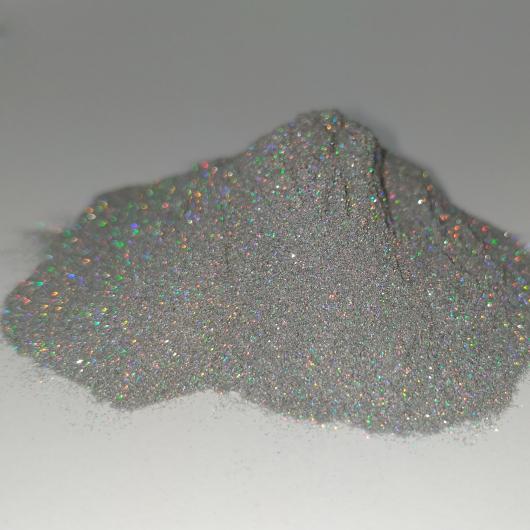 Глиттер лазерный серебряный Tricolor SL-001/36 микрон - интернет-магазин tricolor.com.ua
