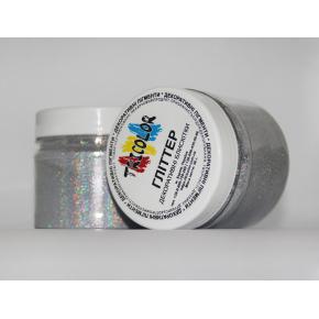 Глиттер лазерный серебряный Tricolor SL-001/50 микрон - изображение 4 - интернет-магазин tricolor.com.ua