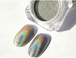 Купить Глиттер лазерный серебряный Tricolor SL-001/50 микрон - 6