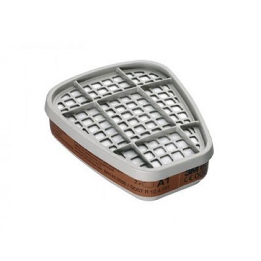 Фильтр для защиты от органических газов и паров 3М 6055 (класс защиты A2) пара - изображение 2 - интернет-магазин tricolor.com.ua