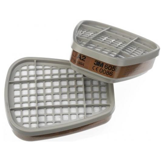 Фильтр для защиты от органических газов и паров 3М 6055 (класс защиты A2) пара - интернет-магазин tricolor.com.ua