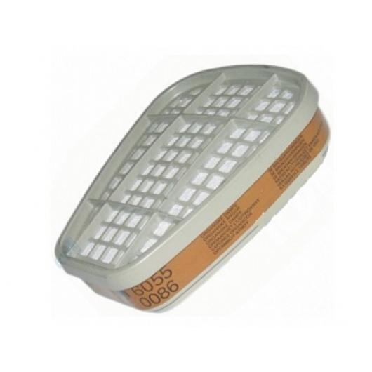 Фильтр для защиты от органических газов и паров 3М 6055 (класс защиты A2) пара - изображение 3 - интернет-магазин tricolor.com.ua
