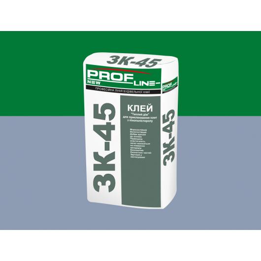 Клей для приклеивания плит из ППС и МВ ЗК-45 Profline