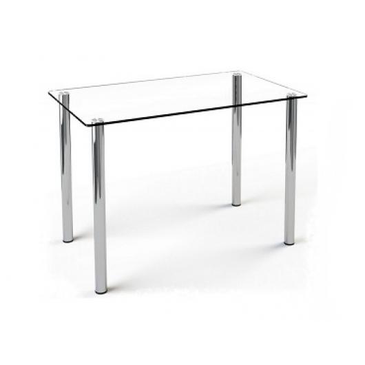 Стеклянный обеденный стол S1 910*610 прозрачный