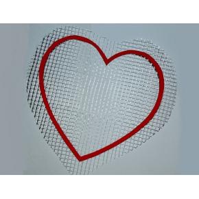 Декор для жидких обоев Сердце
