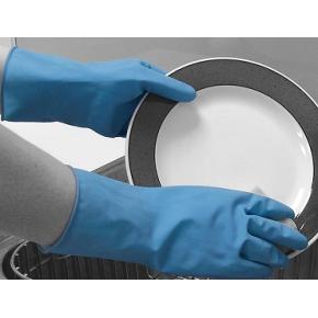 Перчатки химстойкие из природного каучука (пара) Matrix Household POL 152-MAT размер L - интернет-магазин tricolor.com.ua