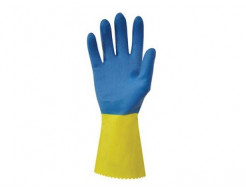Перчатки химстойкие с двойным напылением (пара) Duo Plus POL RU560/09 размер L - изображение 3 - интернет-магазин tricolor.com.ua
