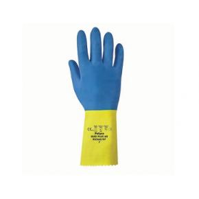 Перчатки химстойкие с двойным напылением (пара) Duo Plus POL RU560/09 размер L - изображение 2 - интернет-магазин tricolor.com.ua