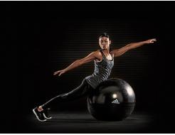 Купить Мяч гимнастический (фитбол) ADBL-12247 чёрный - 2