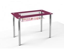 Стеклянный обеденный стол S3 1100*650 покраска - изображение 2 - интернет-магазин tricolor.com.ua