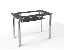 Стеклянный обеденный стол S3 1200*750 покраска - изображение 2 - интернет-магазин tricolor.com.ua