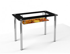 Стеклянный обеденный стол S3 1200*750 покраска - изображение 4 - интернет-магазин tricolor.com.ua