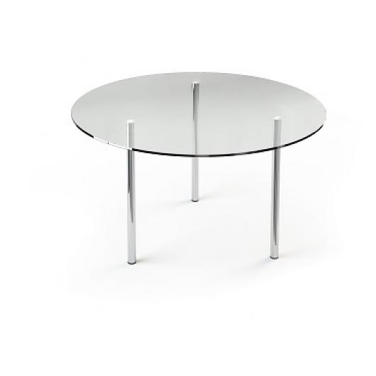 Стеклянный обеденный стол R1 900*900 прозрачный