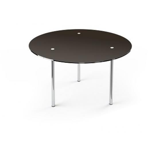 Стеклянный обеденный стол R1 900*900 покраска - интернет-магазин tricolor.com.ua