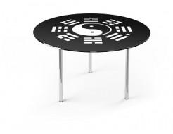 Купить Стеклянный обеденный стол R1 1100*1100 покраска - 22