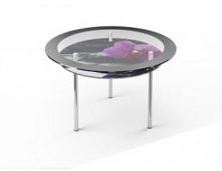 Стеклянный обеденный стол R2 900*900 покраска - изображение 3 - интернет-магазин tricolor.com.ua