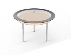 Стеклянный обеденный стол R2 1100*1100 покраска - изображение 2 - интернет-магазин tricolor.com.ua