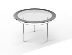 Стеклянный обеденный стол R2 1100*1100 покраска - изображение 3 - интернет-магазин tricolor.com.ua