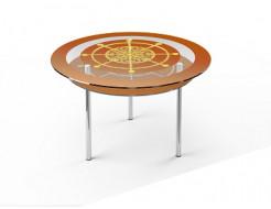 Стеклянный обеденный стол R2 1100*1100 покраска - изображение 4 - интернет-магазин tricolor.com.ua