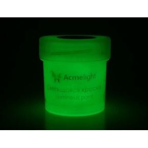 Краска люминесцентная AcmeLight для рисования классик свечение зеленое 20 мл - изображение 2 - интернет-магазин tricolor.com.ua