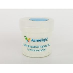 Краска люминесцентная AcmeLight для творчества классик свечение голубое 20 мл - интернет-магазин tricolor.com.ua