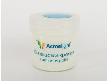 Краска люминесцентная AcmeLight для творчества классик свечение голубое