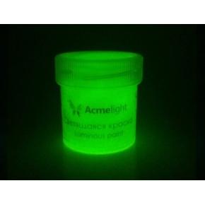 Краска люминесцентная AcmeLight для рисования желтая 20 мл - изображение 2 - интернет-магазин tricolor.com.ua