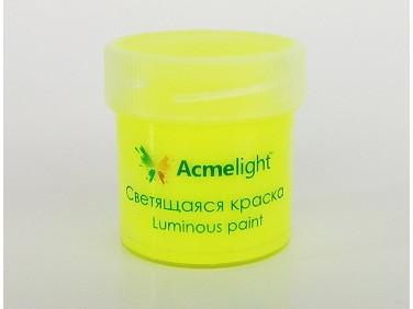 Краска люминесцентная AcmeLight для творчества желтая