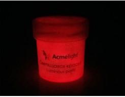 Краска светящаяся AcmeLight для творчества красная - изображение 2 - интернет-магазин tricolor.com.ua