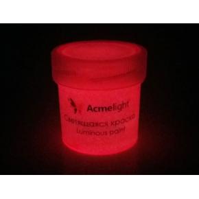 Краска люминесцентная AcmeLight для рисования розовая 20 мл - изображение 2 - интернет-магазин tricolor.com.ua