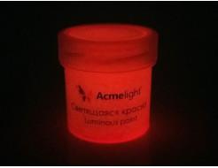 Краска светящаяся AcmeLight для творчества оранжевая - изображение 2 - интернет-магазин tricolor.com.ua