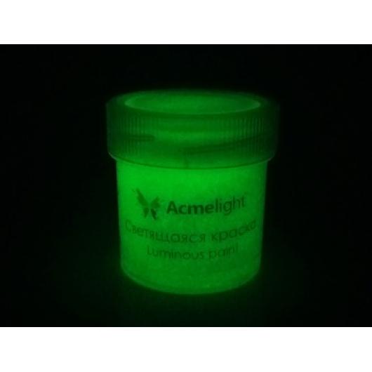 Краска люминесцентная AcmeLight для творчества зеленая 20 мл - изображение 2 - интернет-магазин tricolor.com.ua