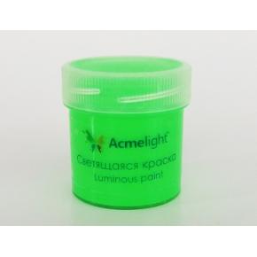 Краска люминесцентная AcmeLight для рисования зеленая 20 мл - интернет-магазин tricolor.com.ua