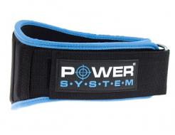 Купить Пояс для тяжелой атлетики Power System PS-3210 голубой M - 37