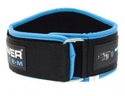 Купить Пояс для тяжелой атлетики Power System PS-3210 голубой M - 38