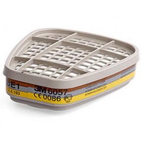 Фильтр 3M 6057 для защиты от органических и неорганических кислых газов и паров пара - изображение 2 - интернет-магазин tricolor.com.ua