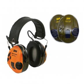 Наушники противошумовые 3M Peltor SportTac MT16H210F-478-GN 26 дБ зеленые-оранжевые