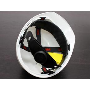 Каска защитная 3М H-700C-VI штифтовая застежка, Белая - изображение 3 - интернет-магазин tricolor.com.ua