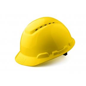 Каска защитная 3М H-700C-GU штифтовая застежка, Желтая - изображение 2 - интернет-магазин tricolor.com.ua