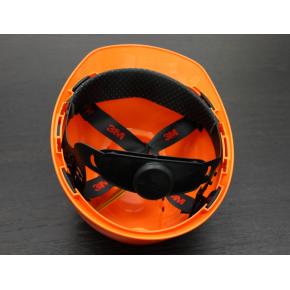 Каска защитная 3М H-700C-OR штифтовая застежка, Оранжевая - изображение 2 - интернет-магазин tricolor.com.ua