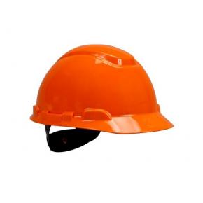 Каска защитная 3М H-700C-OR штифтовая застежка, Оранжевая - интернет-магазин tricolor.com.ua