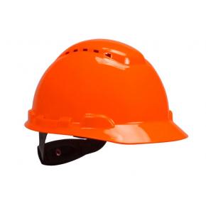 Каска защитная 3М H-700N-OR храповик, вентилируемая, оранжевая