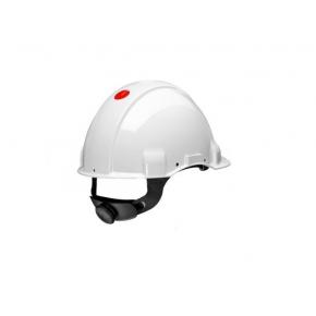 Каска защитная 3М G3001CUV-VI штифтовая застежка, Белая